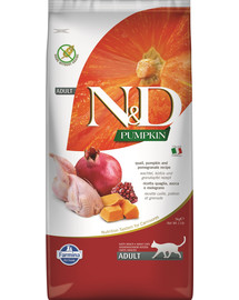 N&D Pumpkin Cat quail & pomegranate 5 kg