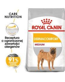 Medium Dermacomfort 10 kg karma sucha dla psów dorosłych, ras średnich o wrażliwej skórze