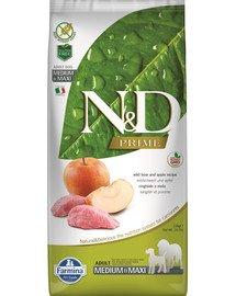 N&D Prime Dog Adult medium & maxi Wild boar & apple 12 kg