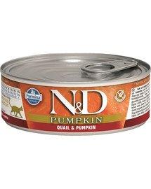 N&D Pumpkin & quail karma mokra dla kota - przepiórka i dynia 80 g