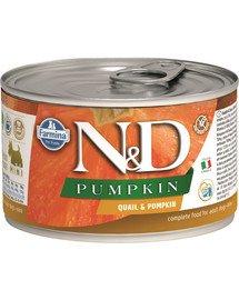 N&D Pumpkin & quail karma mokra dla psa - przepiórka i dynia 140 g