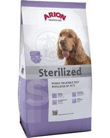Health&care dog sterilised 12 kg+1 kg GRATIS