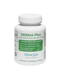 DERMA Plus poprawa stanu sierści psa i kota 60 tabletek