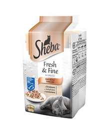 saszetka 6x50g Fresh & Fine - mokra karma dla kotów w sosie (z drobiem, z indykiem, z łososiem)