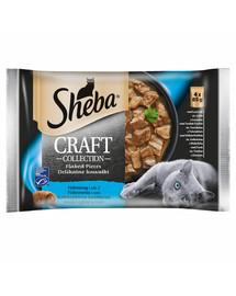 saszetka 4x85g Craft Collection Smaki Rybne - mokra karma dla kotów w sosie (z łososiem, z tuńczykiem, z białą rybą, z dorszem)