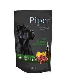 PIPER z dziczyzną i z dynią 500 g mokra karma dla dorosłych psów