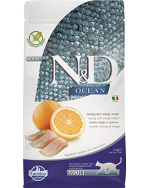 N&D Ocean Cat adult herring and orange śledź i pomarańcza 5 kg