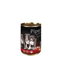 PIPER Junior z sercami wołowymi i marchewką 400 g mokra karma dla szczeniąt