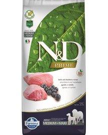 N&D Prime dog lamb & blueberry adult medium & maxi 12 kg