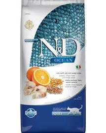 N&D Ocean cat adult codfish, spelt, oats and orange 5 kg