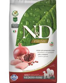 N&D Prime dog adult medium & maxi chicken & pomegranate 12 kg