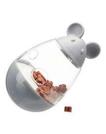 Zabawka na przysmaki mysz plastikowa, Cat Activity Snack 9 cm