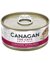 Cat Chicken with Beef 75 g mokra karma dla kotów kurczak i wołowina