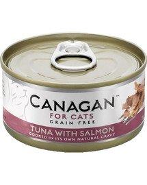 Cat Tuna with Salmon 75 g mokra karma dla kotów tuńczyk z łososiem