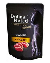 Premium Danie z kaczki dla kotów sterylizowanych 85 g