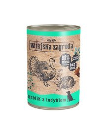 Królik z indykiem 400 g bezzbożowa karma dla psa