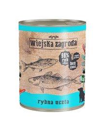 Rybna uczta 800 g bezzbożowa karma dla psa