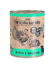 Królik z indykiem 800 g bezzbożowa karma dla psa