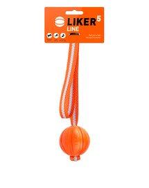 LINE Dog toy piłka na pasku z uchem dla psa 5 cm
