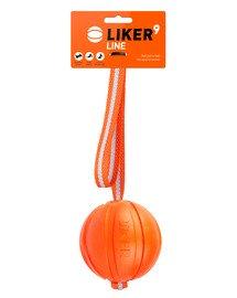 LINE Dog toy piłka na pasku z uchem dla psa 9 cm