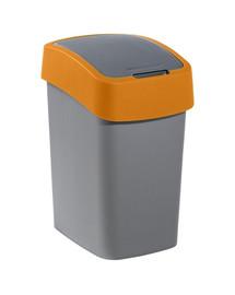 """Kosz na śmieci """"FLIP BIN"""" 25 l srebrny/pomarańczowy"""