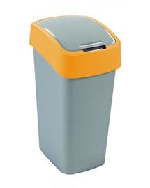 Kosz na śmieci FLIP BIN 50 l Srebrny/pomarańczowy