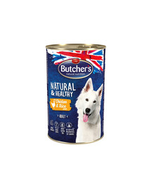 Natural&Healthy Dog z kurczakiem i ryżem pasztet 1200 g
