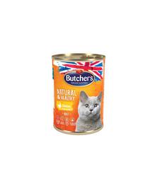 Natural&Healthy Cat z kurczakiem kawałki w galarecie 400 g