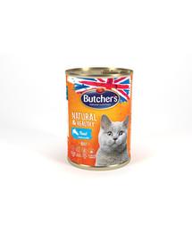 Natural&Healthy Cat z pstrągiem kawałki w galarecie 400 g