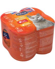 Natural&Healthy Cat wołowina kurczak 4x400 g