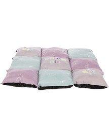 Poduszka Junior Patchwork, 60 x 60 cm, liliowa/miętowa/różowa