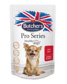 ProSeries Dog z wołowiną kawałki w sosie 100 g