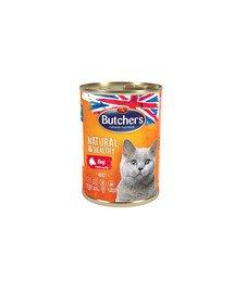 Natural&Healthy Cat z wołowiną kawałki w galarecie 400 g