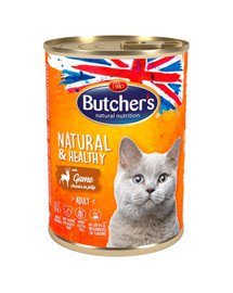 Natural&Healthy Cat z dziczyzną kawałki w galarecie 400 g