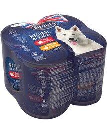 Natural&Healthy Dog wołowina i kurczak 4x390 g