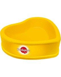 Plastikowa miska dla psa serce żółta