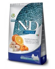 N&D Ocean dog adult codfish, pumpkin, orange mini 7 kg