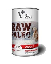 RAW PALEO Adult beef 400 g mokra karma wołowina 400 g