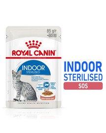 Sterilised Indoor in Gravy 12 x 85 g mokra karma dla kotów kastrowanych przebywających w domu