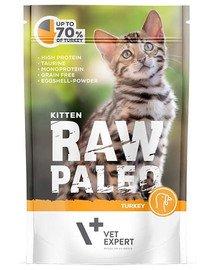 RAW PALEO Kitten turkey 100 g mokra karma dla kociąt indyk