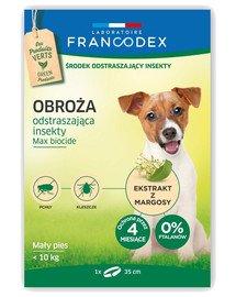 Obroża dla małych psów do 10 kg odstraszająca insekty - 4 miesiące ochrony, 35 cm