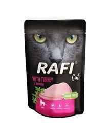 RAFI saszetka z indykiem 100 g dla dorosłych kotów