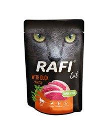 RAFI saszetka z kaczką 100 g dla dorosłych kotów