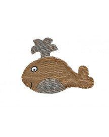 Wieloryb z mocnego materiału brązowy 11 x 9 cm