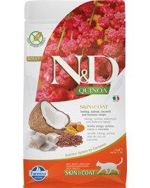 N&D Quinoa Cat skin&coat herring 5 KG