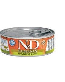 N&D Cat Pumpkin Boar, pumpkin, apple 80 g karma mokra dla kotów