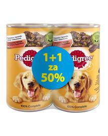 Adult puszka 1200 g x 6 szt. 1 + 50% GRATIS - mokra karma dla psów z wołowiną w galaretce