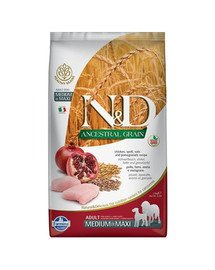 N&D Ancestral Selection dog chicken and pomegranate adult medium&maxi 15 kg