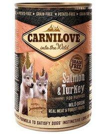 Wild Meat Salmon & Turkey łosoś i indyk dla szczeniąt 400 g