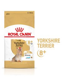 Yorkshire Terrier Adult 8+ 0,5 kg karma sucha dla dojrzałych psów rasy yorkshire terrier, powyżej 8 roku życia